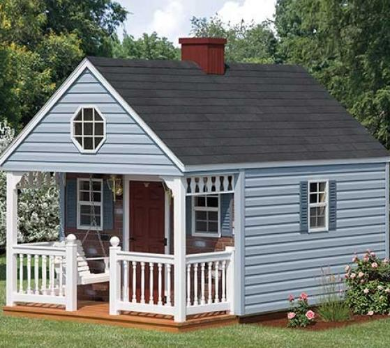 vinyl backyard cabin playhouse