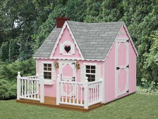 victorian playhouse with porch
