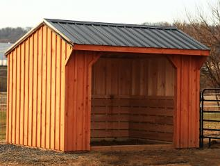 Board & Batten Horse Barn with Metal Roof