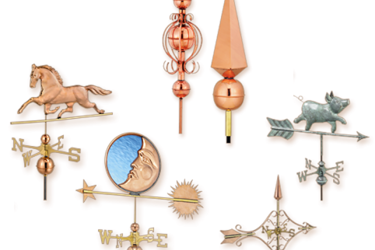 Copper Weathervanes & Finials